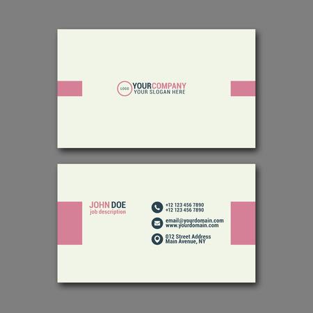modèle de conception élégante de carte de visite pour la conception créative.