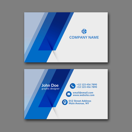 namecard: Elegant business card design template for creative design.
