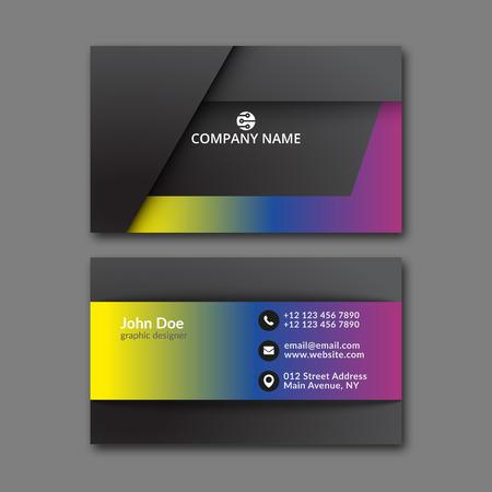 Elegant business card design template for creative design.