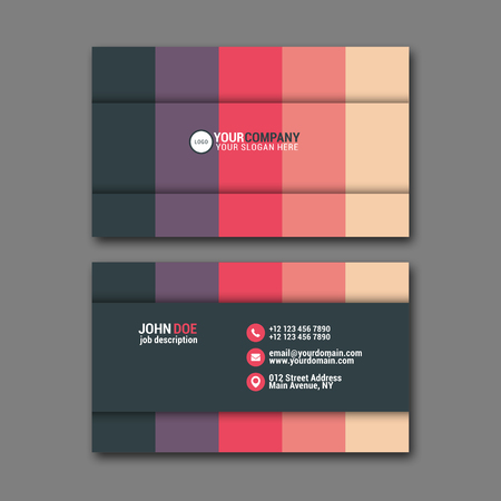 elegant template: Elegant business card design template for creative design.