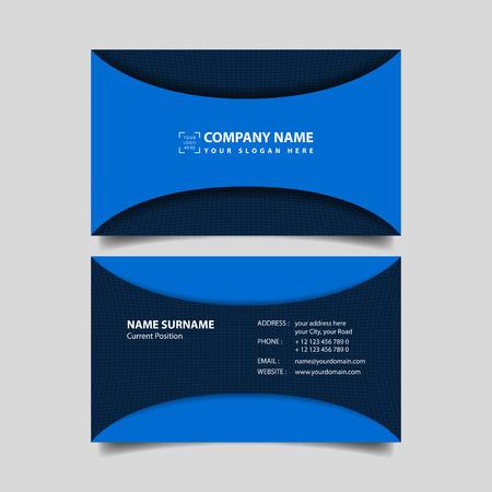 Business card design template.