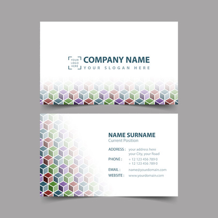 Business Card Design Template Royalty Free Cliparts