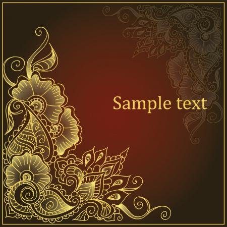 Decoratieve ornament goud Stock Illustratie