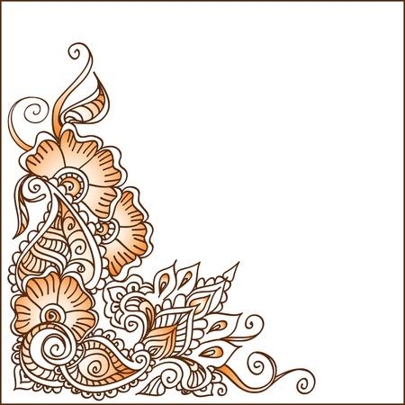 mehendi: Decorative ornament brown