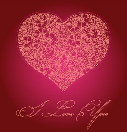 Heart card Stock Vector - 17474860
