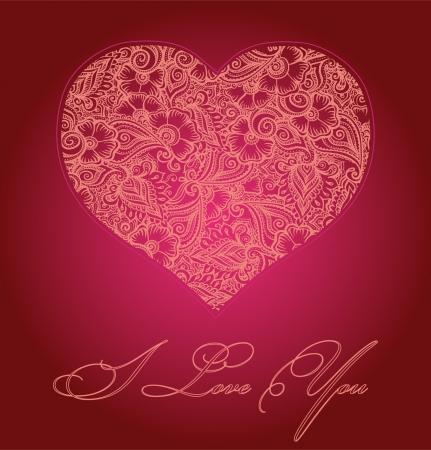 Heart card Stock Vector - 17474860
