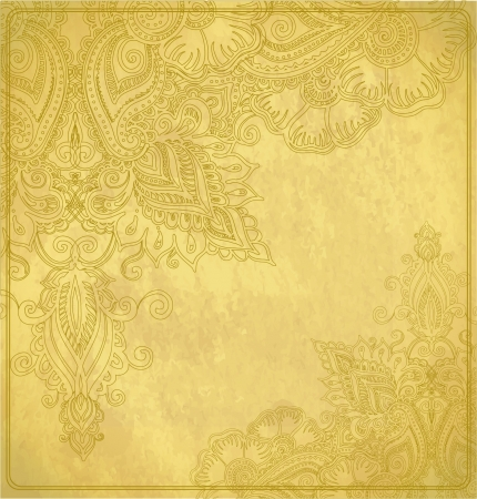 Background texture in old paper with floral ornament Vector