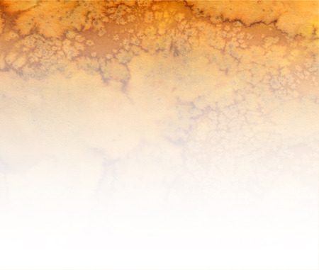 sienna: Abstract brown yellow sienna watercolor horizontal splash