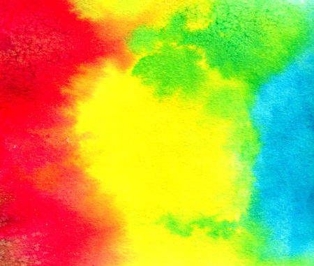 macula: Abstract red yellow blue green watercolor background