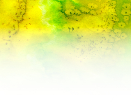 verde y blanco: Abstract green, white and yellow watercolor batik background Foto de archivo