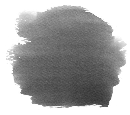 grey water: Black watercolor stain with watercolor paint blotch and brush stroke