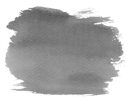 blotch: Grey watercolour blotch stain on white paper background