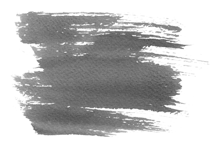 aquarell: Abstract gray hand painted water color splash on white paper background Stock Photo