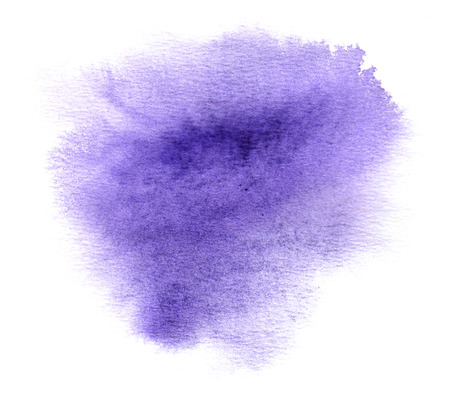 aquarell: Colorful violet watercolour or ink stain with watercolor paint smudge