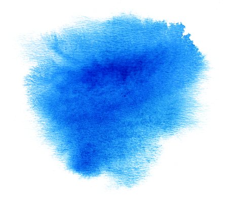 ink stain: Blue watercolor or ink stain with water color paint blotch