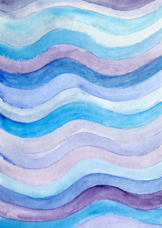 skyblue: Abstract watercolor backdrop with hand painted blue waves