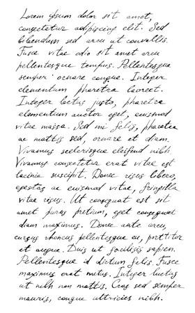 old letter: Handwriting old letter - latin text Lorem ipsum