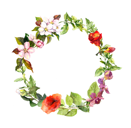 Floral wreath for wedding