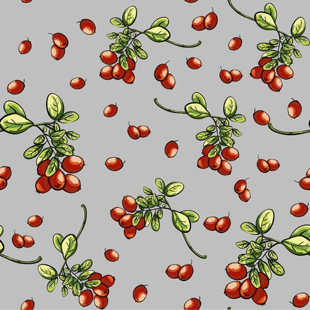 foxberry: Gray pattern texture with red billberry