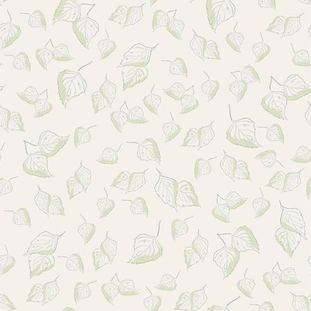 nature vector: Light background pattern texture with birch leaves