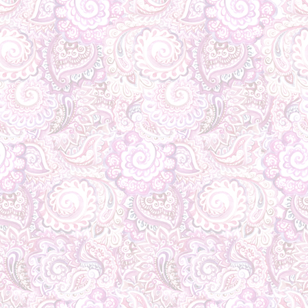 Seamless ornamental ethnic background with indian oriental floral ornament