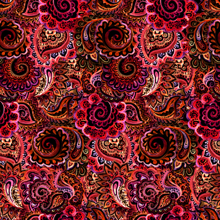 dark red: Seamless ornamental ethnic background with indian oriental floral ornament