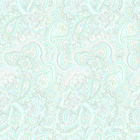tranquility: Seamless ornamental ethnic background with indian oriental floral ornament