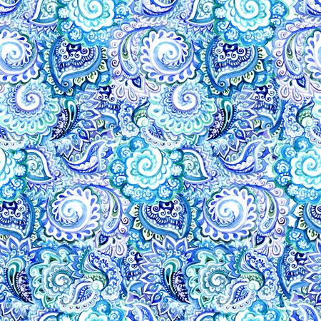 Nahtloses dekoratives ethnischen Hintergrund mit indischen orientalischen Blumenverzierung Standard-Bild - 47258545