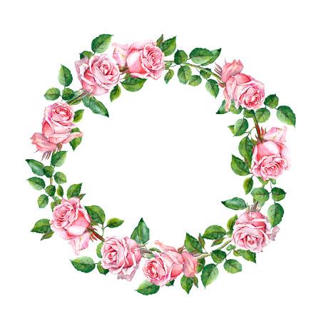 Ripetendo motivo floreale rosa con fiori e piume rosa. Acquerello Archivio Fotografico - 48279653