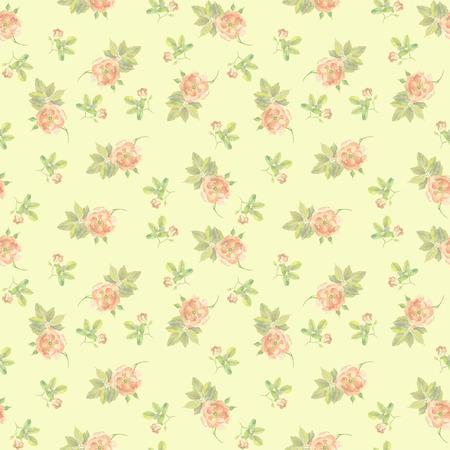 Wiederholte nahtlose Hintergrund mit Aquarellzeichnung rosa Rosen Standard-Bild
