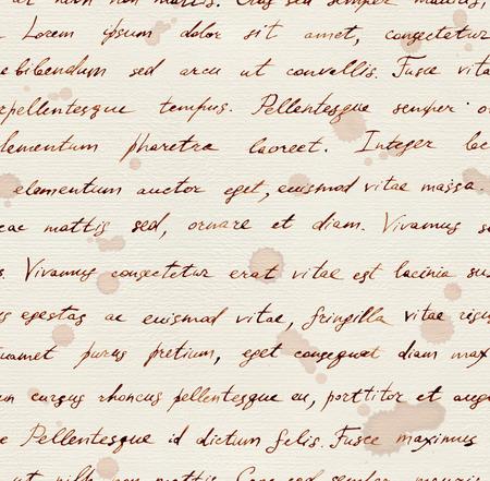 papier a lettre: Fleurs et le texte de la lettre fond. Aquarelle seamless