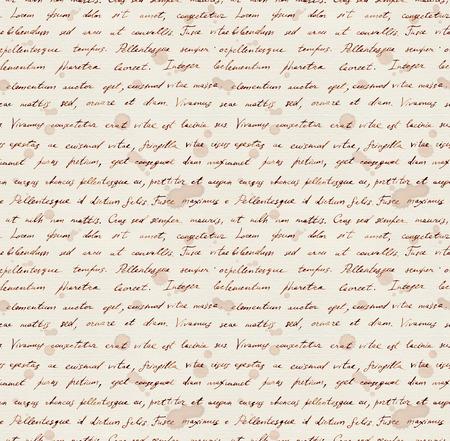 Bloemen en brief tekst achtergrond. Aquarel naadloos patroon