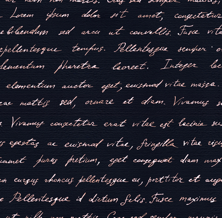 mistic: Vintage hand written letter - seamless text Lorem ipsum. Repeating note pattern, handwritten words background Stock Photo