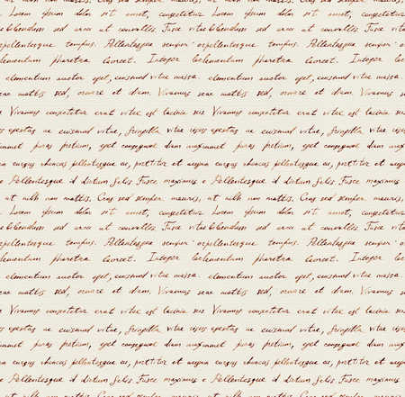 Vintage hand written letter - seamless text Lorem ipsum. Repeating note pattern, handwritten words background Фото со стока