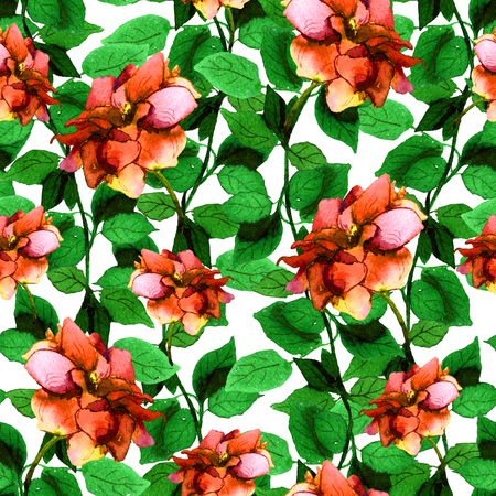 Seamless floral backdrop with vivid bright rose flower
