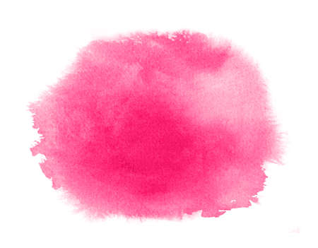 Pink watercolor stain with wash. Watercolor texture for Valentine day or wedding Фото со стока