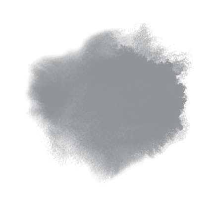 Color of the Year 2021 Ultimate Gray. Abstract watercolor background with wash paint texture and wet edges. Artistic blotch, splash, textured stain on paper background