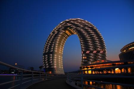 シェラトン リゾート & スパ、太湖、中国浙江省湖州、『 世界 』 第 9 ベイ ランドマーク的な建物、上海島投資グループによって建てられたこの国の