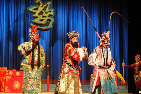 The performance of traditional Chinese opera at stage