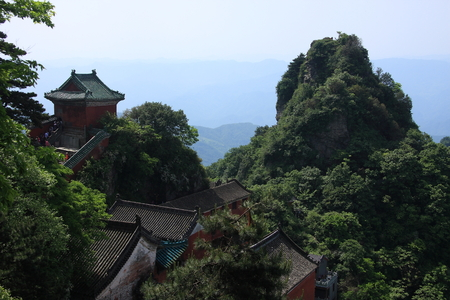 hubei province: Taoist Temple - Wudang Mountain in Shiyan City, Hubei Province territory Stock Photo