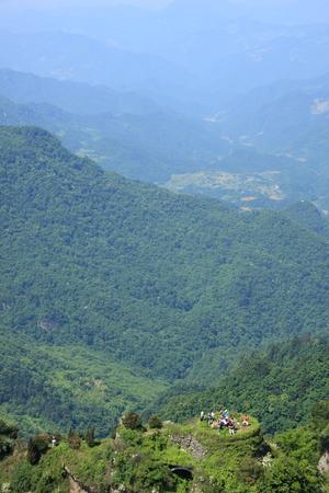 hubei province: Taoist Temple - Wudang Mountain in Shiyan City, Hubei Province territory Stock Photo