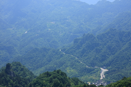 poems: Taoist Temple - road to Wudang Mountain in Shiyan City, Hubei Province territory