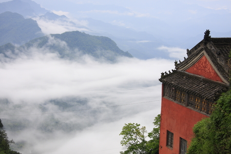 Famous Taoist Wudang Taoist temples, in the territory of Shiyan City, Hubei Province.