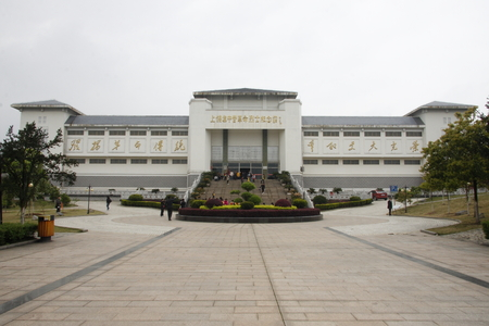 patriotic martyr: Shangrao City in Jiangxi Shangrao camp in the southern suburbs of Maojialing. Built in 1941 by the Kuomintang, the New Fourth Army commander Ye Ting and other communists imprisoned. The picture shows the memorial. Editorial