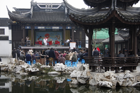 "prevalent: Lake Theatre, formerly known as  ""Huzhou tanhuang "" prevalent in Huzhou, Jiaxing, Hangzhou Yuhang district and other places, there are about a hundred years of history. Lake play was included in the second batch of intangible cultural heritage"