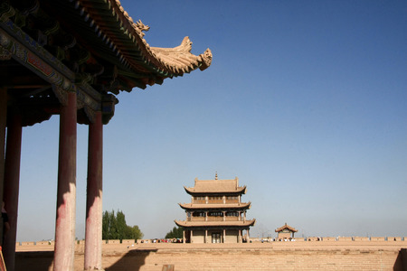 "jiayuguan: Jiayuguan in Jiayuguan City, Gansu Province, the western end of the Ming Great Wall is the first re-pass, but also the ancient ""Silk Road"" traffic fortress. Ming Dynasty Great Wall is the western end of the starting point, along the Great Wall b Editorial"