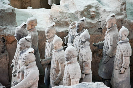 road warrior: Terracotta Warriors pit located in this Lintong, Shaanxi Province, is one of the greatest discoveries and Horses of Qin Shi Huang Mausoleum