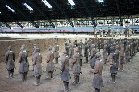 huang: Terracotta Warriors pit located in this Lintong, Shaanxi Province, is one of the greatest discoveries and Horses of Qin Shi Huang Mausoleum