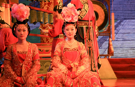 song dynasty: Traditional performance in the Shaanxi Province