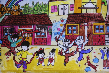 children painting: creative children painting